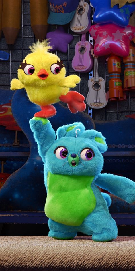 Toy Story 4, Fluffy Toys, animation movie, 2019, 1080x2160 wallpaper