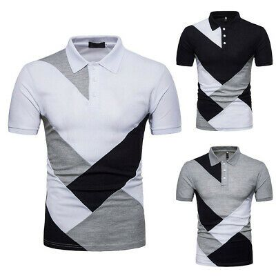 ALOVEMO Man T shirts Mens Slim Short Sleeve T-Shirt Fashion Personality Casual Pockets Top Blouse