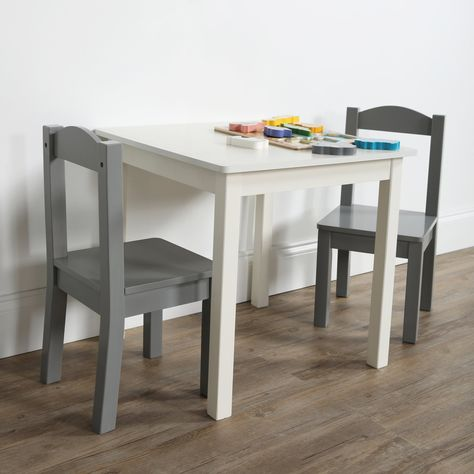 Tot Tutors Inspire 3 Piece Kids Square Table And Chair Set