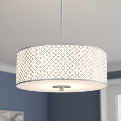 Fayme 3 Light Shaded Drum Chandelier Drum Chandelier Drum Light Chandelier Shades