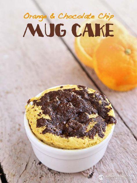 Orange Chocolate Chip Mug Cake
