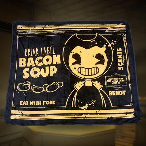 Bendy Bacon Soup Can Fleece Blanket Bacon Soup Bendy And The
