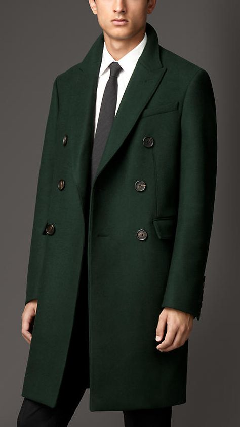 Burberry London Wool Peak Lapel Topcoat