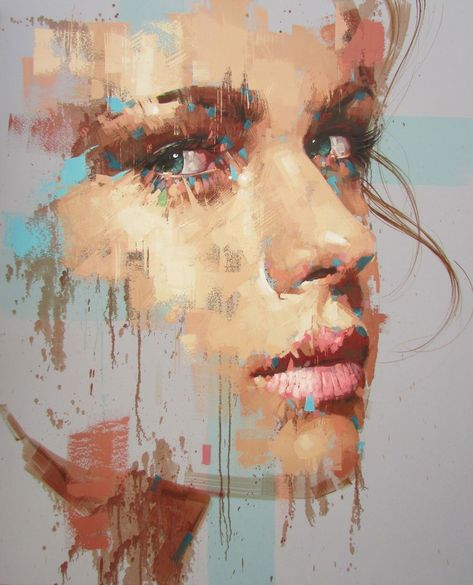 Jimmy Law, 1970 | Abstract portrait painter | Tutt'Art@ | Pittura * Scultura * Poesia * Musica | #modernabstractartface