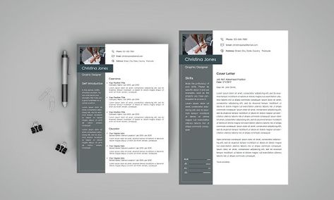 This Resume\/CV \ Cover Letter Set is made with high quality design - elements of a cover letter