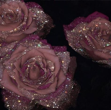 mauve roses with crystals - Sara-Shakeel-Crystal-Collage-Digital-Artist - subway station Source by lovemaegan... -