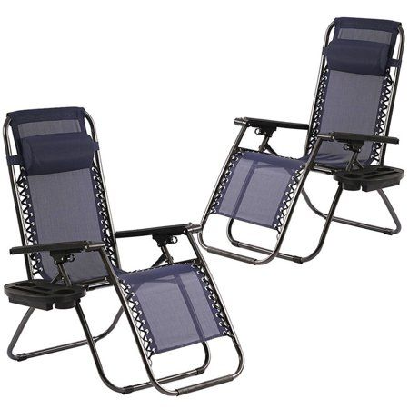 Zero Gravity Chairs Set Of 2 Patio Adjustable Dining Reclining Folding Chairs Walmart Com In 2020 Zero Gravity Chair Patio Zero Gravity Chair Gravity Chair