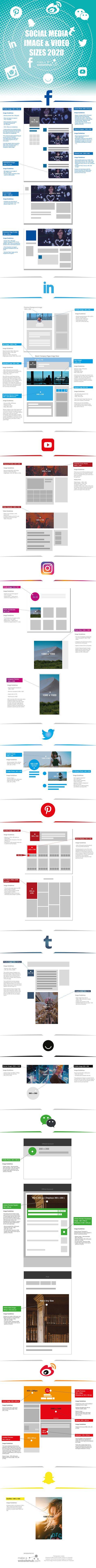 2021 Social Media Image Sizes Cheat Sheet - Make A Website Hub