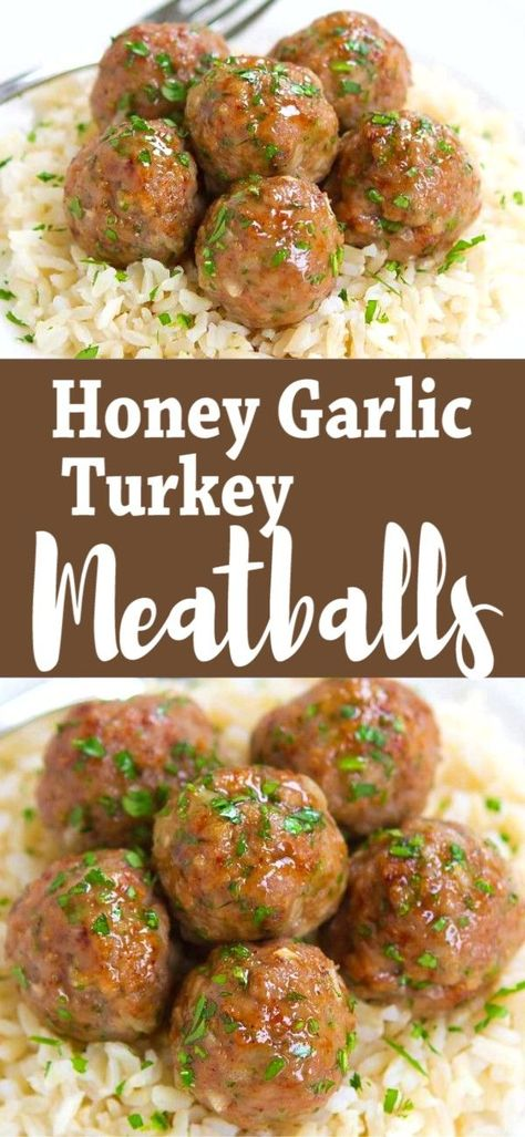 Low Unwanted Fat Cooking For Weightloss Who Can Resist A Plateful Of Honey Garlic Turkey Meatballs? Incredible As Appetizers Or Served Over Rice As An Easy Dinner. 239 Calories And 7 Weight Watchers Sp Baked Healthy Ground Turkey Recipe Dinner Clean Eating, Healthy Eating, Healthy Cooking, Dinner Healthy, Healthy Delicious Dinner Recipes, Simple Easy Dinner Recipes, Healthy Dinners For Two, Cooking Ham, Healthy Summer