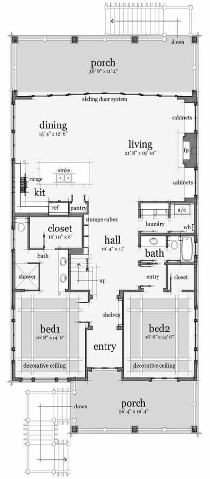 Best House Plans Small Open Dream Homes 55 Ideas Coastal House Plans Beach House Plan Small Floor Plans