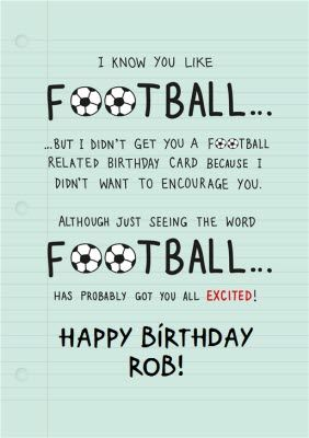 For Football Fans Personalised Birthday Cardonce You Ve Personalised Your Card O Brochure Design Template Personalized Birthday Cards Photoshop Tutorial Design