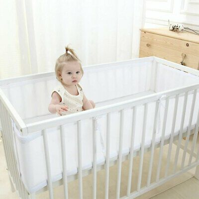 Baby Bed Breathe Easy Breathable Air Mesh Crib Liner Wrap Cot Bumper Nursery Set