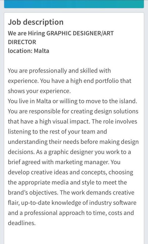 Pin by Scott Schembri on BADIE Malta Pinterest - art director job description