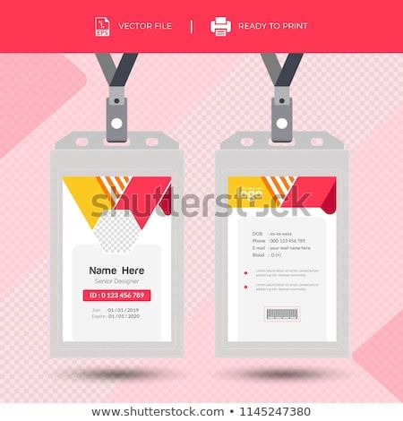 Creative Simple Id Card Design Vector Template Id Card With