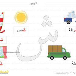 بطاقة عرض ملونة حرف الشين صور لكلمات تبدأ بحرف الشين شمسات Kids Rugs Kids Rugs