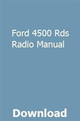 Ford 4500 Rds Radio Manual | liechiemava | Repair manuals
