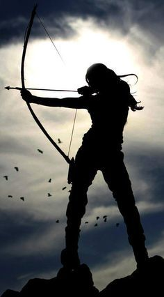 'A woman with a bow and arrow is powerful, strong, capable and independent. I want to emulate these qualities and learn to shoot archery.' I think its Lara Croft from the Tomb Raider game The Hunger Games, Lara Croft Tomb, Katniss Everdeen, Warrior Princess, Artemis, Character Inspiration, Medieval, Adventure, World