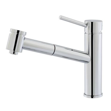 3249 - Miscelatore acciaio inox con doccia estraibile #shower - mitigeur cuisine avec douchette extractible