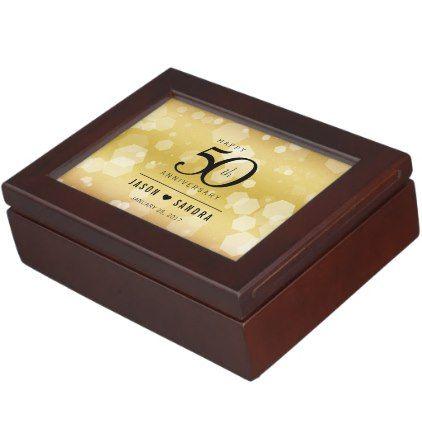 Elegant 50th Golden Wedding Anniversary Keepsake Box Create Your O Wedding Anniversary Keepsake 50 Golden Wedding Anniversary Wedding Anniversary Celebration