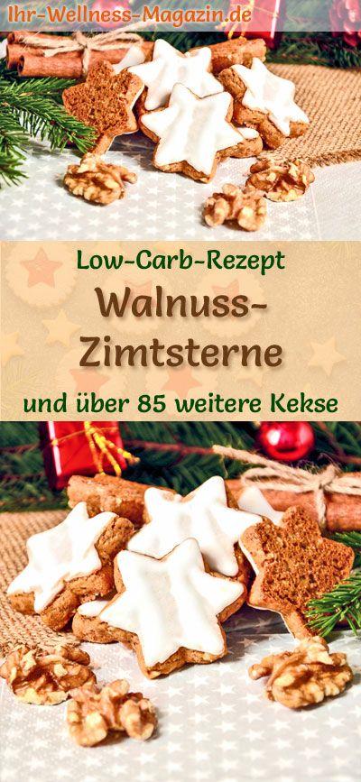 Weihnachtsgebäck Zimtsterne.Low Carb Walnuss Zimtsterne Einfaches Plätzchen Rezept Für