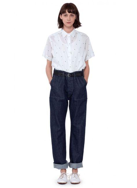 Margaret Howell PJ Shirt on model