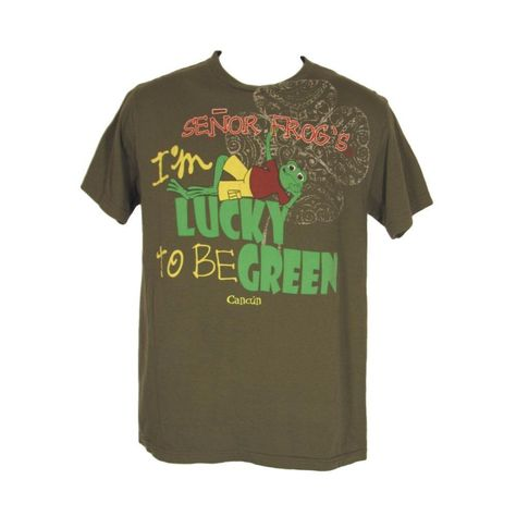 a879cd9b6 Senor Frogs Shirt S I'm Lucky to Be Green Cancun Mexico Short Sleeves  Cotton #SenorFrogs #ShortSleeve