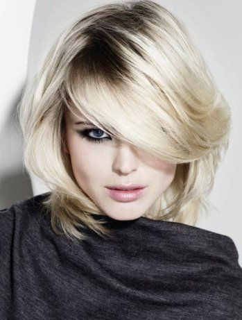 قصات شعر قصير 2014 Platinum Blonde Hair Color Medium Hair Styles Hair Styles