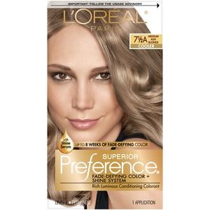 L Oreal Paris Superior Preference Fade Defying Hair Color 71 2a Medium Ash Blonde Cvs Medium Ash Blonde Hair Color At Home Hair Color