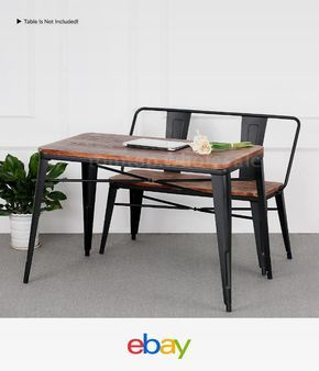 2pcs Patio Table And Bench Set Dining Table In Outdoor Picnic Bbq