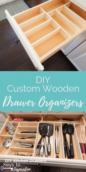15 Incredible Kitchen Drawer Diys 1 Three Layer Drawers In 2020 Wooden Drawer Organizer Kitchen Drawers Wooden Drawers