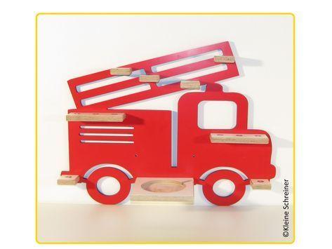 Feuerwehr In Rot Tonieregalselberbauen In 2020 Diy For Kids Shelves Wooden Toy Car
