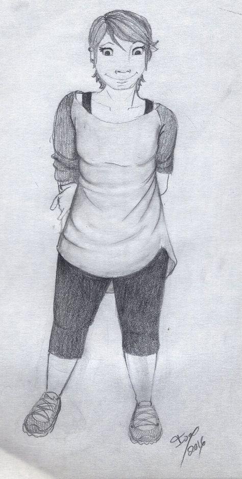 dibujo a lápiz de Isabel Osma, mujer ,naturalmente bella