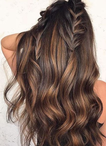 23 Cool Chocolate Brown Hair Color With Wavy Hairs Knowledge Regarding Hairstyles Fashion Hair Styles Hot Hair Styles Chocolate Brown Hair