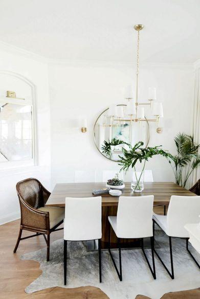75 Simple And Minimalist Dining Table Decor Ideas 25022