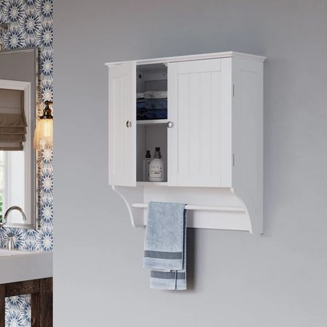 Beadboard Wall Cabinet With Towel Bar Riverridge Target With Images Wall Mounted Bathroom Cabinets Bathroom Cabinets Diy Wall Cabinet