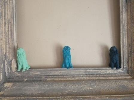 1 Un Vieux Cadre Patine A L Acrylique 2 Le Moule Chaussette De Chien En Repro Gel 3 Moulage Des Chiens En Sculto Cadres Patines Peinture Acrylique Patine