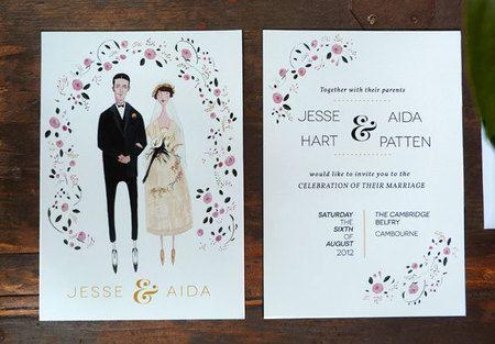 62 Contoh Desain Undangan Pernikahan Unik Sealkazz Blog Portrait Wedding Invitations Wedding Invitations Vintage Style Wedding Invitations
