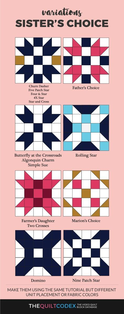 Video Tutorial Sister S Choice Quilt Block Star Quilt Blocks Barn Quilt Patterns Quilt Block Tutorial