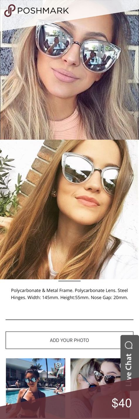 """fa36a43154b QUAY """"MY GIRL"""" sunglasses-no linger sold online Quay clear sunglasses New  With"""