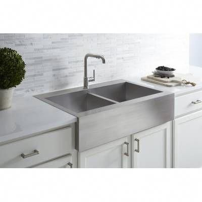 Vault Top Mount Single Bowl Stainless Steel Kitchen Sink With Shortened Apron Front For 36 Cabinet In 2020 Minimalist Kitchen Sinks Kitchen Decor Farmhouse Sink Kitchen