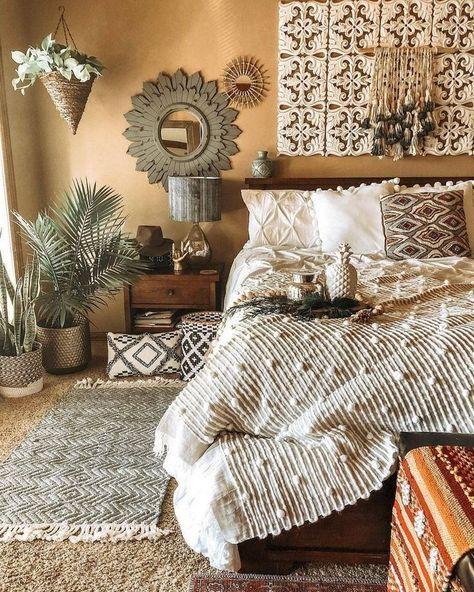 Bohmische Schlafzimmer Dekor Und Bett Design Ideen Bohmische