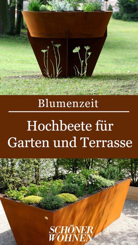 Hochbeet Aus Korrodiertem Stahlblech Von Moderne Feuerstellen Bild 14 Hochbeet Moderne Feuerstellen Und Feuerstelle Garten