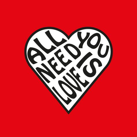 All You Need Is Love - The Beatles Art Print    from Society6 | by www.cleopetradesign.com