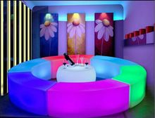 Great Creative Glowing Led arc shaped snake chairs bination living room sofa LED bar furniture explosion