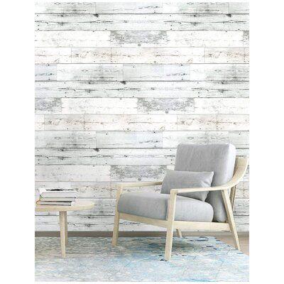 Union Rustic Monon 19 7 L X 17 7 W Textured Peel And Stick Wallpaper Roll Distressed Wood Wall Distressed Wood Wall Decor Wood Plank Wallpaper