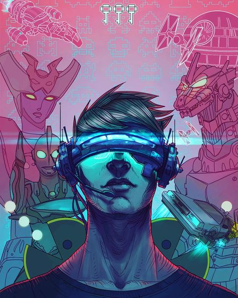 """""""Ready Player One Alternative Cover"""" by Shaose at Deviant Art •"""