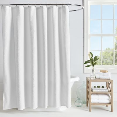 Microsculpt Arrow Shower Curtain In White Arrow Shower Curtain