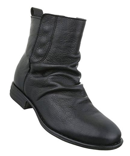 Damen Leder Stiefeletten Optik Stiefel Used Schuhe Boots tdChQrBosx
