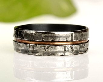 Men S Wedding Ring Etsy Uk Mens Silver Rings Unique Mens Rings Rustic Mens Rings