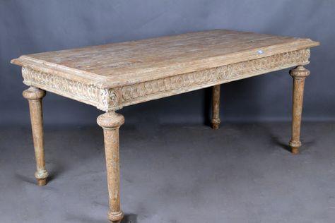 Carved Square Dinning Table-Hanfurs Furniture
